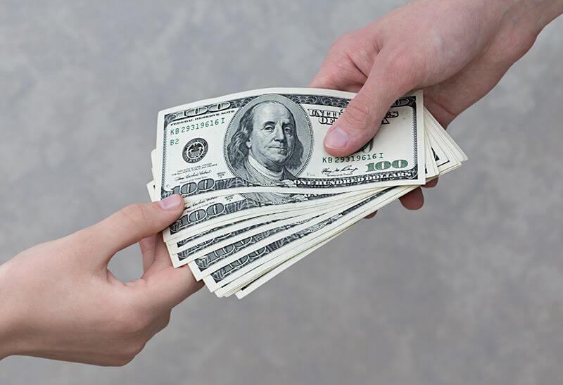 Cuenta de comerciante de préstamos de día de pago